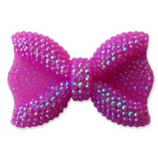 44mm PURPLE Sparkling Kawaii Bow Flatback Cabochon